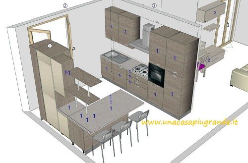 un progetto #cucina fatto online, #gratis da un professionista http ...