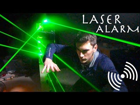 How To Easily Make A Laser Trip Wire Mission Impossible Spy Laser Alarm System Youtube Mission Impossible Laser Tripwire Alarm System