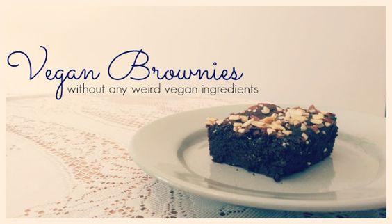 Slippers and Mugs : [Recipe] Vegan Brownies