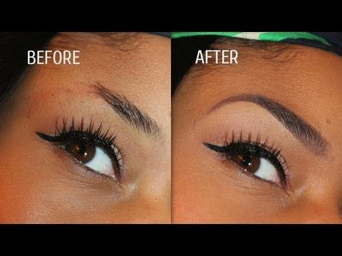 how to make your eyebrows look thicker with eyeliner