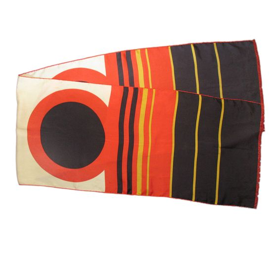 Scarf Vintage 1960s Modernist Design Nautical Porthole Ocean Liner 42x193 RETRO | eBay