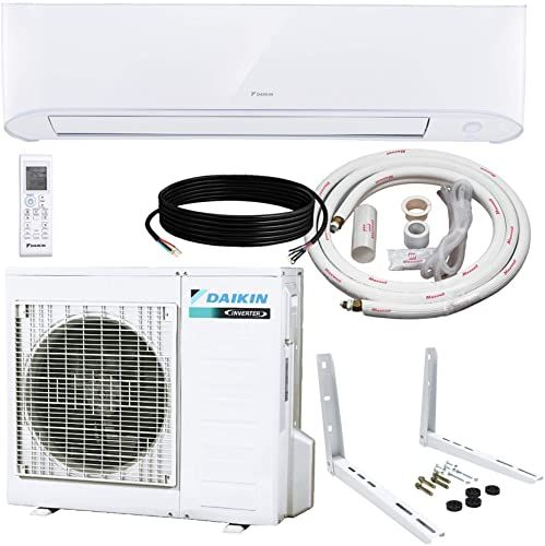 Enjoy Exclusive For Daikin 24 000 Btu 17 Seer Wall Mounted Ductless Mini Split Inverter Air Conditioner Heat Pump System 15 Ft Installation Kit Wall Bracket In 2020 Heat Pump System Wall