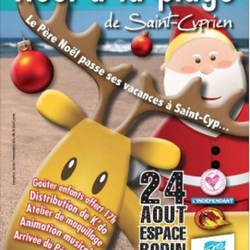Le père Noël débarque ce weekend sur les plages de Saint Cyprien !