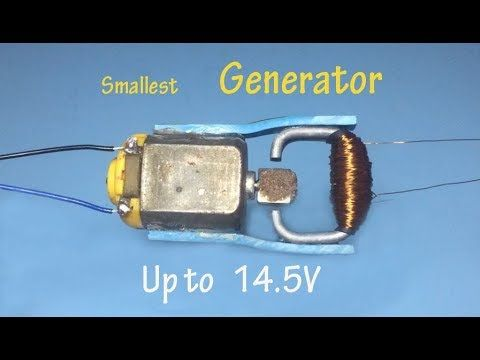 19 How To Make A Smallest Generator 14 V Generator Homemade Dynamo Up To 14 5v Youtube Small Generators Free Energy Generator Free Energy Projects
