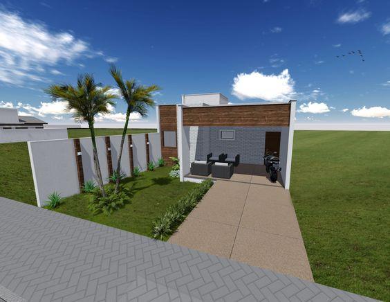 Projeto Modelo Residência 77m² - Fachada Frontal - Studio Urbano Arquitetura e Interiores