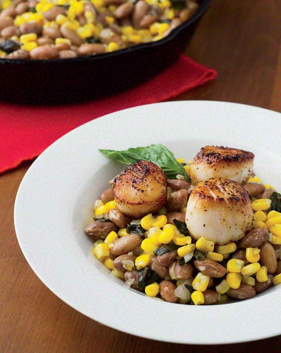 Scallops, Summer and Dishes on Pinterest