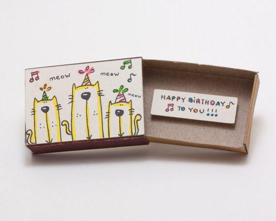 Cat de carte d'anniversaire de la fête / anniversaire par shop3xu