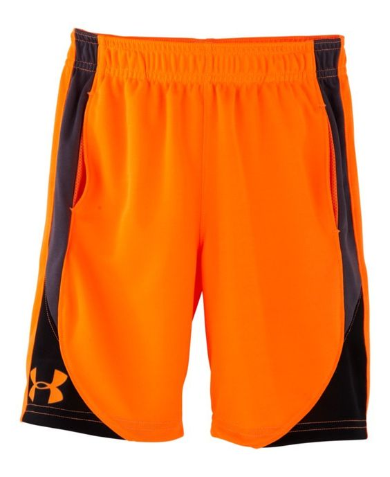 Under Armour Little Boys' Pre-School UA Flare Shorts 6 Blaze Orange. Signature Moisture Transport System wicks sweat away from the body. Covered elastic waistband. Hand pockets. Polyester.
