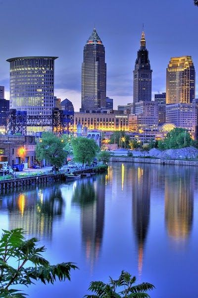 Cleveland, Ohio. I've been there a ton of times and I don't remember it once looking like this. But it's still beautiful!