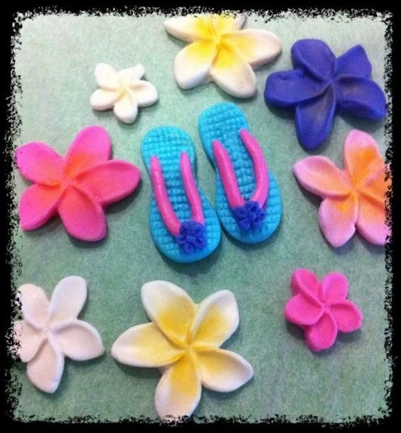 Tropical themed cake decorations my-creations