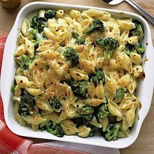 Cheesy Baked Shells and Broccoli Recipe   MyRecipes