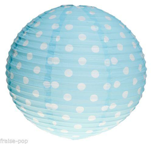 suspension boule japonaise a pois bleu ciel lampe lampion papier japonais lustre pastel kid 39 s. Black Bedroom Furniture Sets. Home Design Ideas