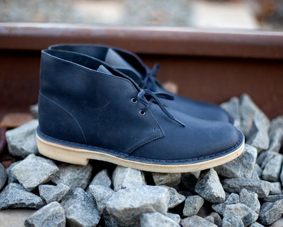 Clarks Desert Boots are forever fresh. I'm still stuck on this gorgeous blue pair.
