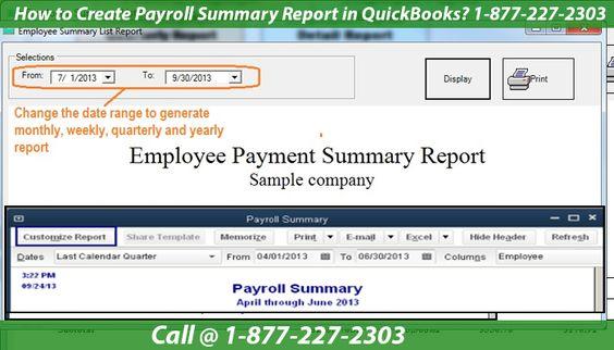 How To Create Payroll Summary Report In Quickbooks Quickbooks