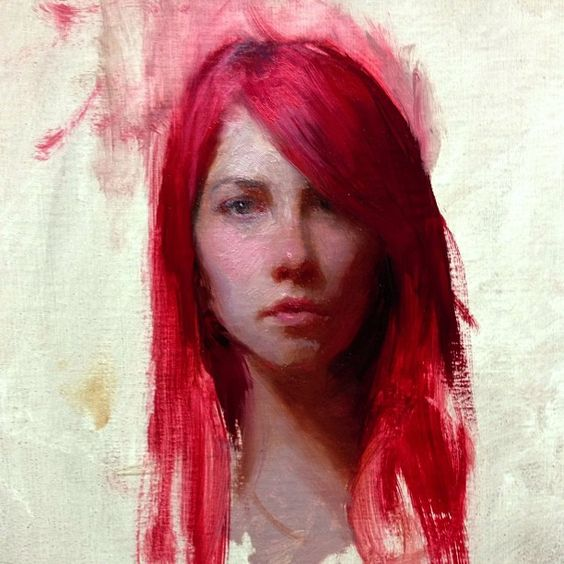 Red and White (WiP) by Jeremy Lipking