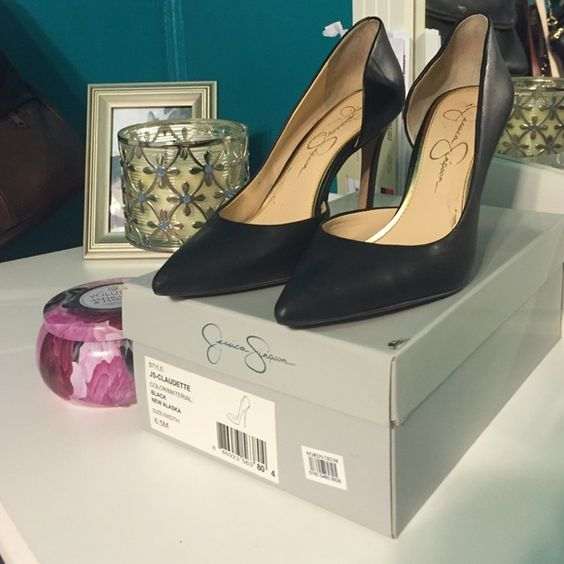 Jessica Simpson Claudette pumps Size 6.5 black. Excellent condition. No low balling please. Will be shipped in original box. Jessica Simpson Shoes Heels