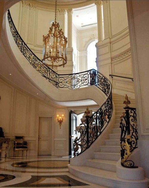 glamorous winding stairs