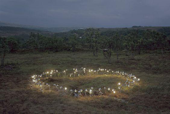 New Rural Light and Book Installations by Rune Guneriussen sculpture light installation books