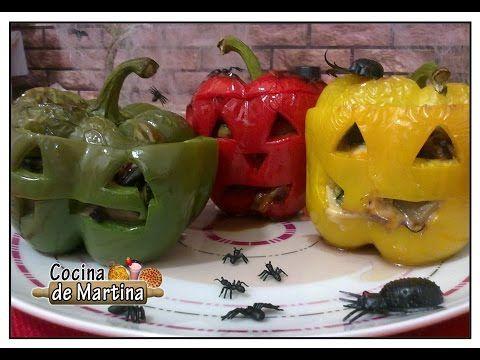 Pimientos malvados | Recetas para halloween | Cocina de Martina - YouTube