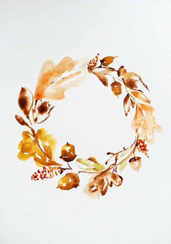 FREE WATERCOLOR FALL printable: