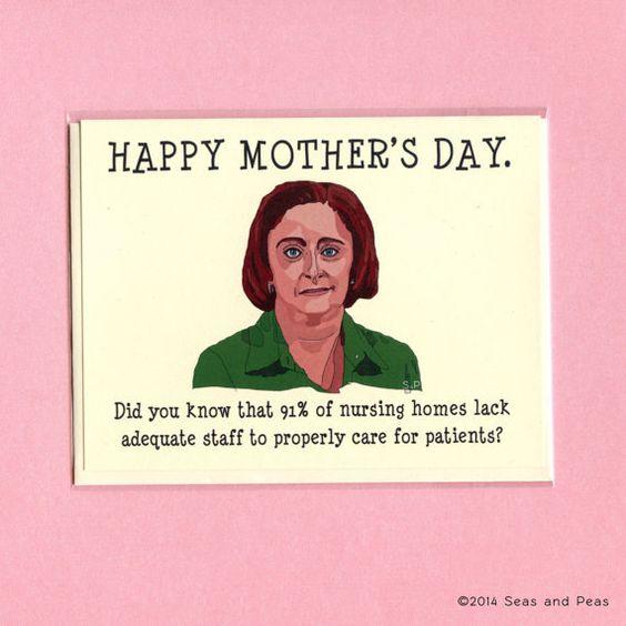 Funny Debbie Downer card for Mother's Day