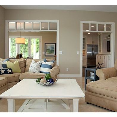 Benjamin moore bleeker beige i like this wall color for - Beige paint colors for living room ...