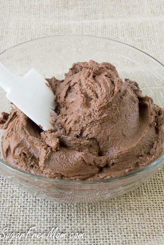 Sugar Free Chocolate Buttercream Frosting made low carb, gluten free, grain free and with just 3 fabulous ingredients!