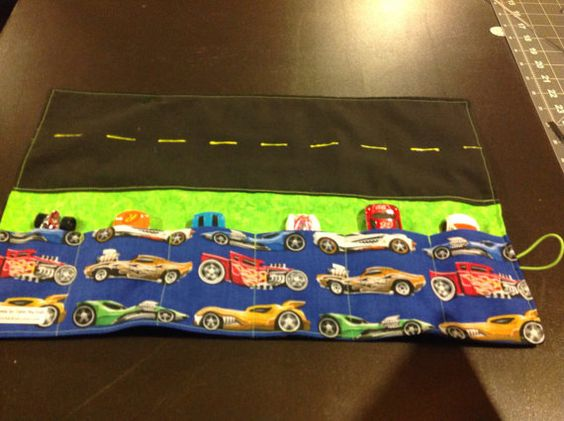 Toy Car Roll-up by CarryMeKidz on Etsy