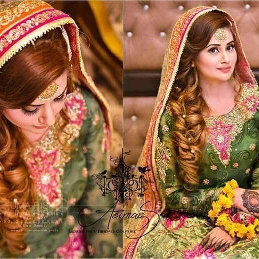 Mehndi Day Hairstyles : Mehndi pakistani designers and love her on pinterest