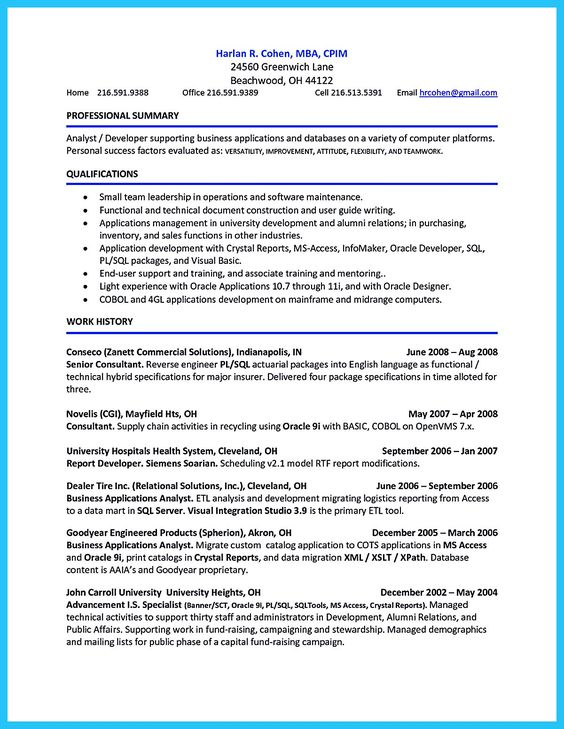 Candidates Resume Accountsales
