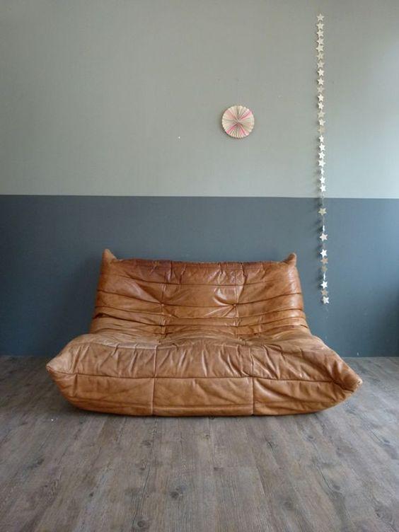 Le cuir décliné dans un canapé à l'aspect terriblement confortable