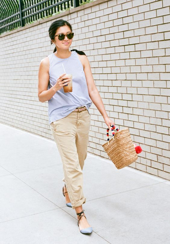 Our designer Somphone shows us three ways—and three places—she's wearing our striped bow top. See more at jcrew.com/blog.