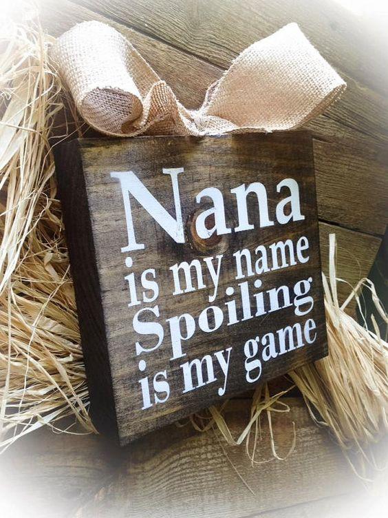 Nana Sign Nana Gift  Mother's Day Gift Nana Is My by DesignsBySyds