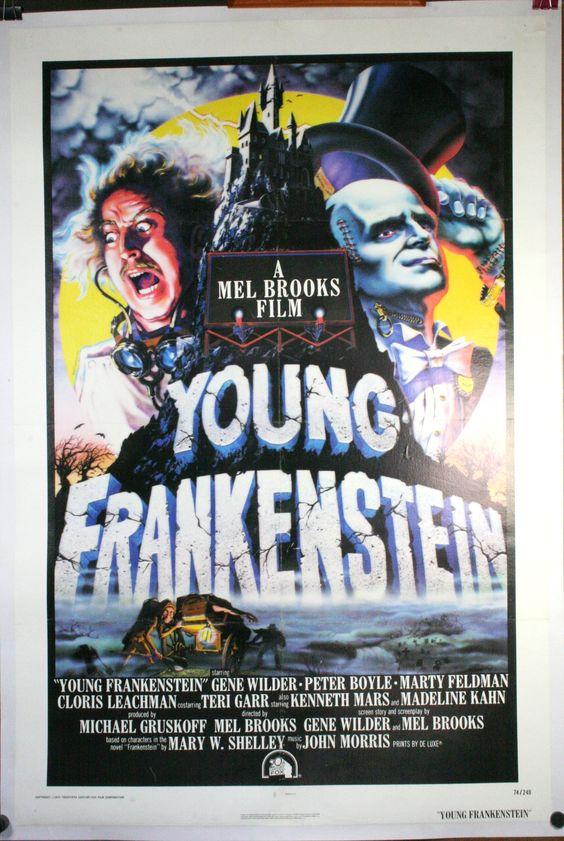 classic movie posters | Gene Wilder, Marty Feldman and Cloris Leachman Young Frankenstein