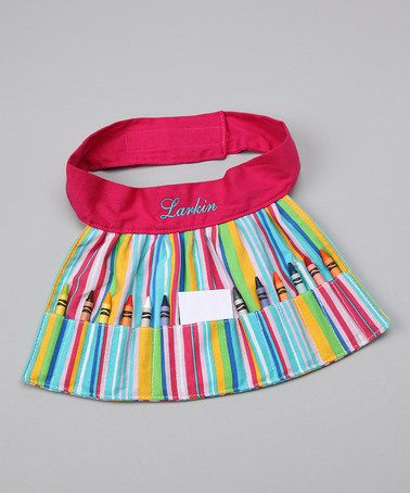 This Stripe Personalized Crayon Apron is perfect! #zulilyfinds
