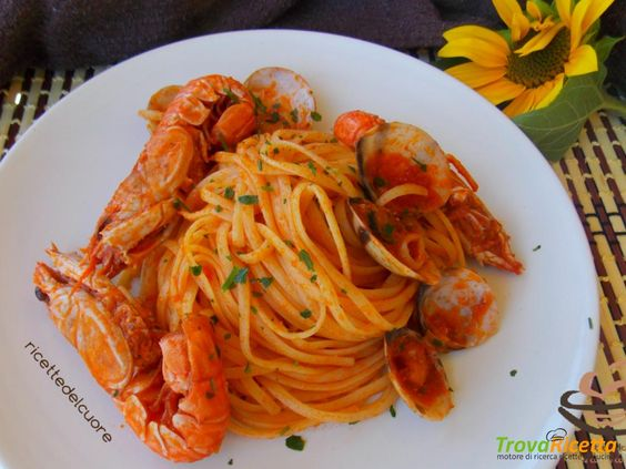 Bavette agli scampi  #ricette #food #recipes