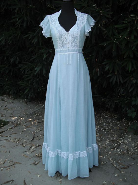 Original 1970's Gunne Sax Powder Blue Dress / by KlassyKlassics