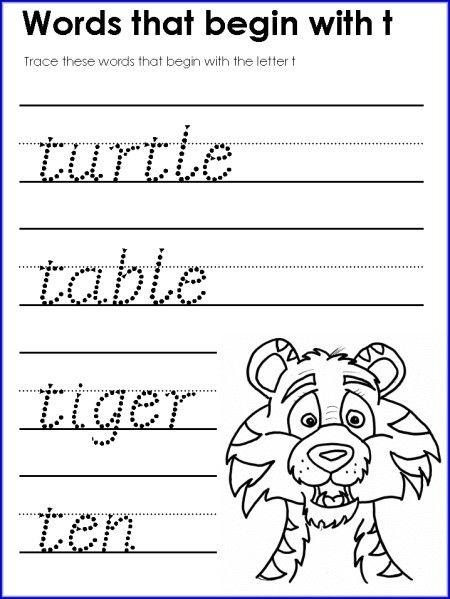 math worksheet : word letter t worksheet for kindergarten  teaching  literacy  : T Worksheets For Kindergarten