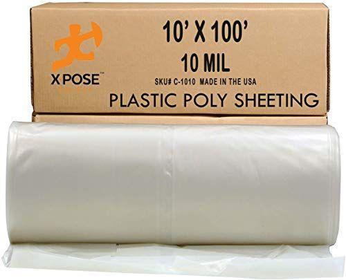 Best Seller Poly Sheeting 10x100 Feet Heavy Duty 10 Mil Thick Frosted Plastic Tarp Waterproof Vapor Dust Protective Equipment Cover Agricultural Construction Industrial Use Xpose Safety Online In 2020