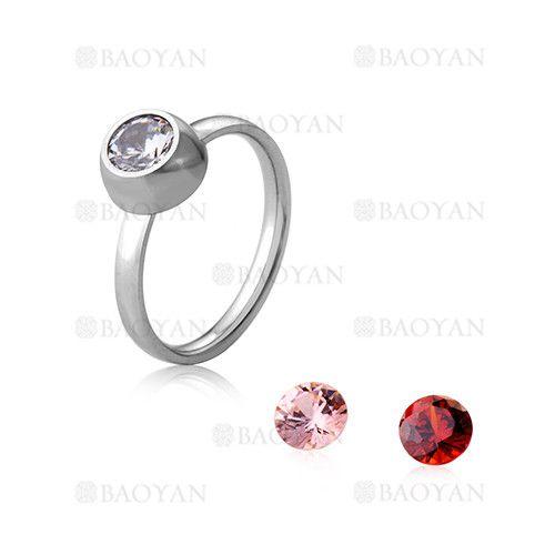 anillo con cristal de plateado en acero inoxidable para mujer-SSRGG802025