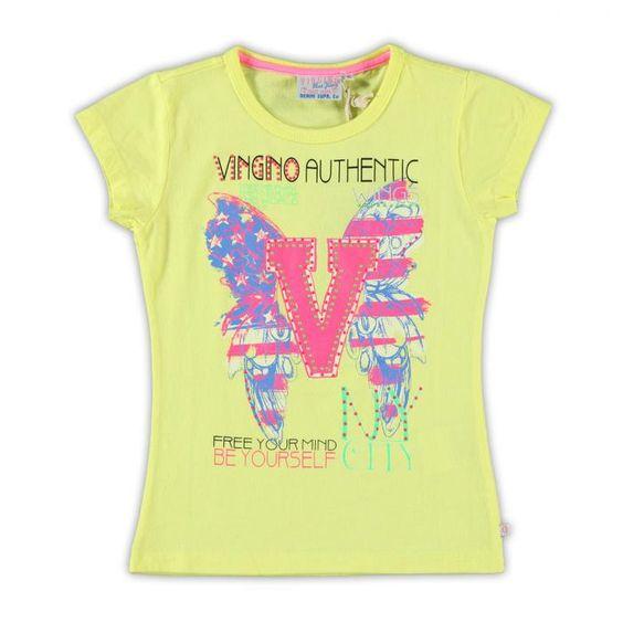 Vingino Girls shirt met korte mouw   kleertjes.com