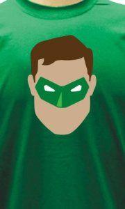 Camiseta Lanterna Verde Face - Camisetas Personalizadas, Engraçadas e Criativas