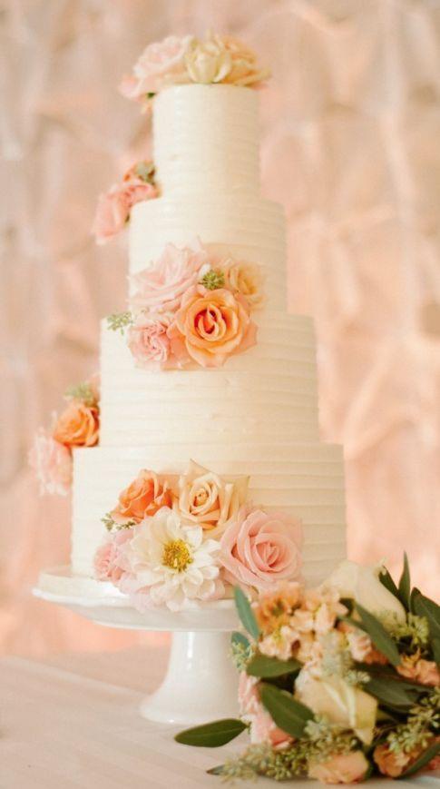 Wedding cake idea; Featured Photographer: Acres of Hope Photography
