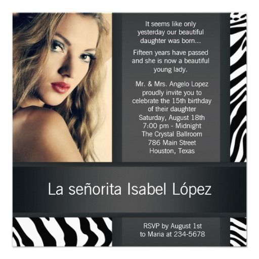 Personalized Zebra Photo Quinceanera Invitations This site is will advise you where to buyHow to          	Personalized Zebra Photo Quinceanera Invitations today easy to Shops & Purchase Online - transferred directly secure and trusted checkout...