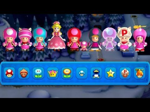 All Toadette Power Ups In New Super Mario Bros U Deluxe Youtube