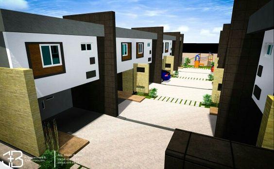 Conjunto viviendas pareadas