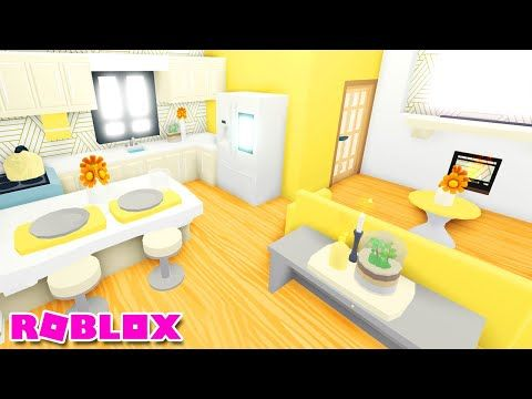 TINY LIVING *YELLOW* 🌻 SPEED BUILD ADOPT ME Roblox House Home - YouTube | Cute Room Ideas, Home Roblox, 18 Inch Baby Doll