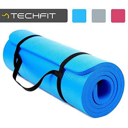 Techfit Tapis De Yoga Et Fitness Extra Epais 15mm 180 X 60 Cm Parfait Pour Des Exercices Au Sol Le Camping Le Gym Des Tapis Yoga Exercices Au Sol Tapis Fitness