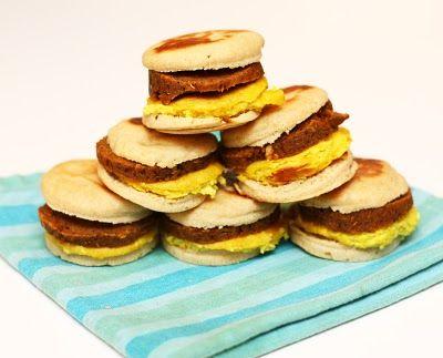 Vegan breakfast sandwiches