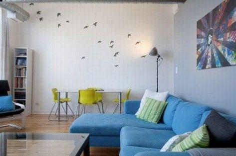Easy Blue White Furniture Decoration